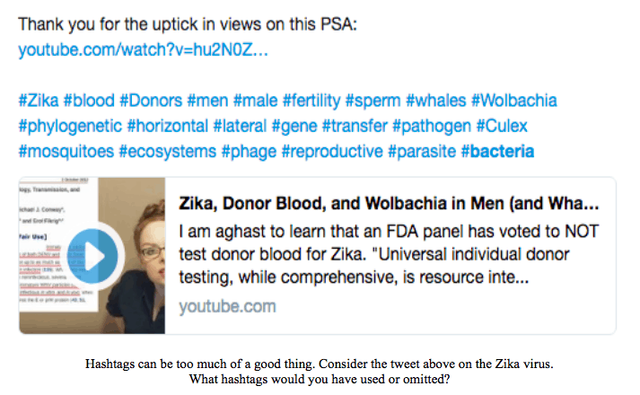 PSA Zika Blood Donor Hashtags